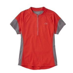 L.L.Bean Comfort Cycling Jersey, Short-Sleeve Red